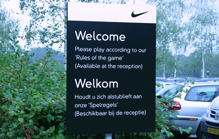 Bewegwijzering Nike